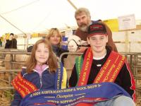 First showing at the Australian Sheep and Wool Show at Bendigo in 2004 - Success!