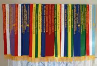 Broad ribbons from Bendigo and Hamilton Sheepvention in 2012