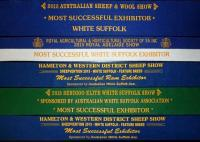 Most Successful Exhibitor again in 2015 (27 exhibitors -343 entries at the 2015 Royal Adelaide Show)
