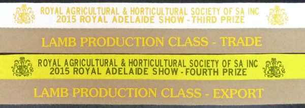 Royal Adelaide Show results 2015